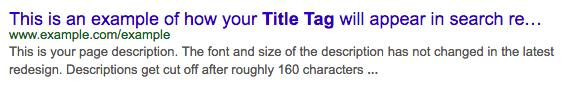 title tag og meta description